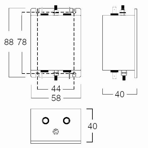 RF 1XX - 1M Single Phase Case Dimst