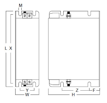 Single Phase MHU Case Dims