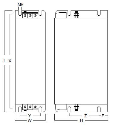 Three Phase MHU 3006-3180 Case Dims